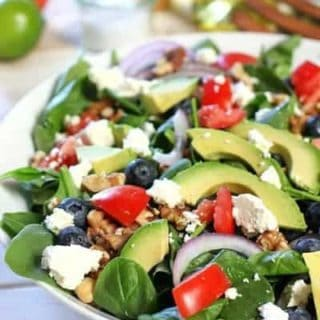 Spinach Power Salad with Honey Lime Vinaigrette