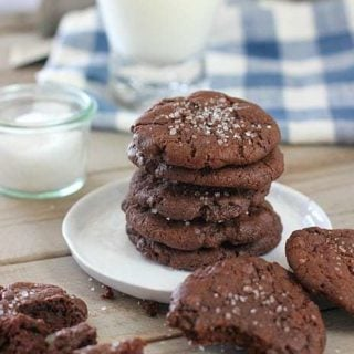 Double Chocolate Chip Cookies with Sea Salt