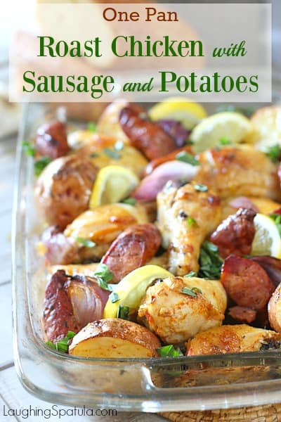 Roast Chicken with Sausage and Potatoes