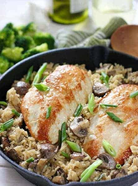 Creamy One Pot Chicken Rice And Mushrooms Laughing Spatula