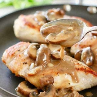 Pan Seared Chicken with Mushroom Gravy