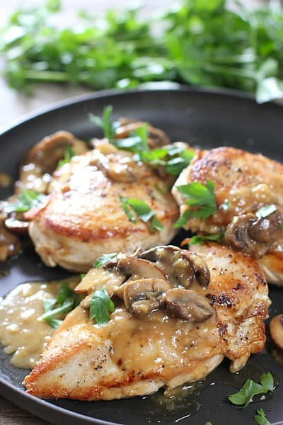 Easy Chicken Breasts With Mushroom Pan Sauce Laughing Spatula
