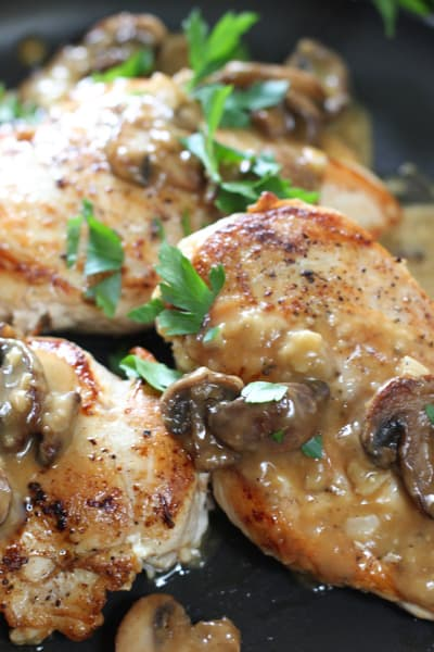 Perfectly seared chicken breasts with easy pan sauce will become a family fave!