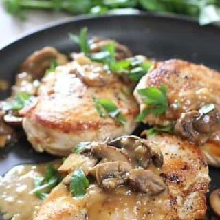 Easy Chicken Breasts with Mushroom Pan Sauce