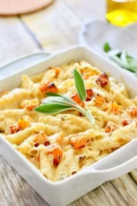 roasted butternut pasta and cream sauce