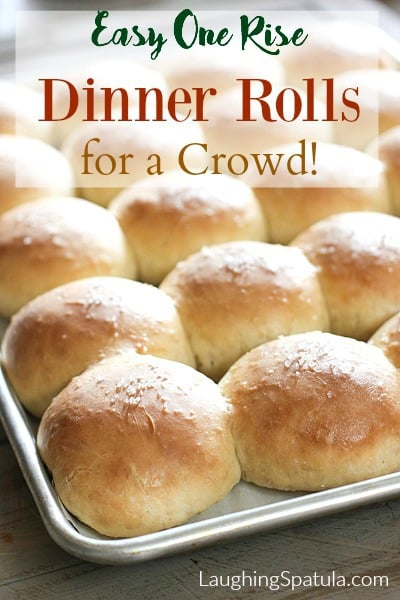 These one rise Homemade Rolls for a Crowd are the answer to feeding your entire family. These are made the most amazing way! #rollsforacrowd #easyhomemaderolls #oneriserolls