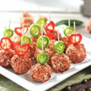 Jalapeño Popper Cheese Ball Bites
