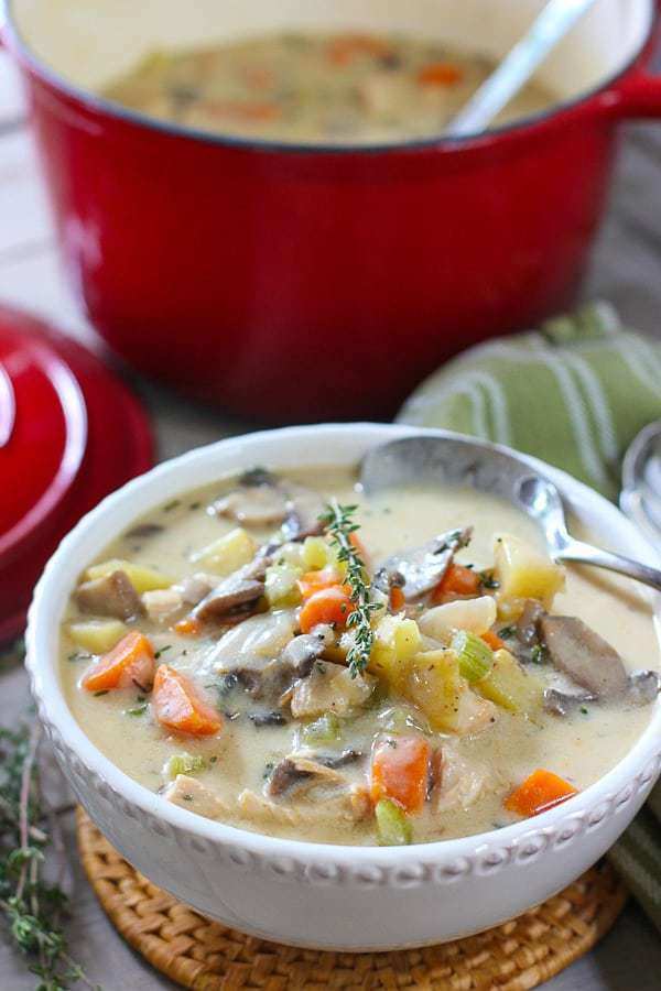 Chicken Chowder served up in a bowl