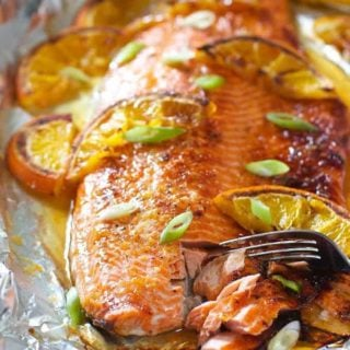 Honey Glazed Salmon with Orange and Ginger