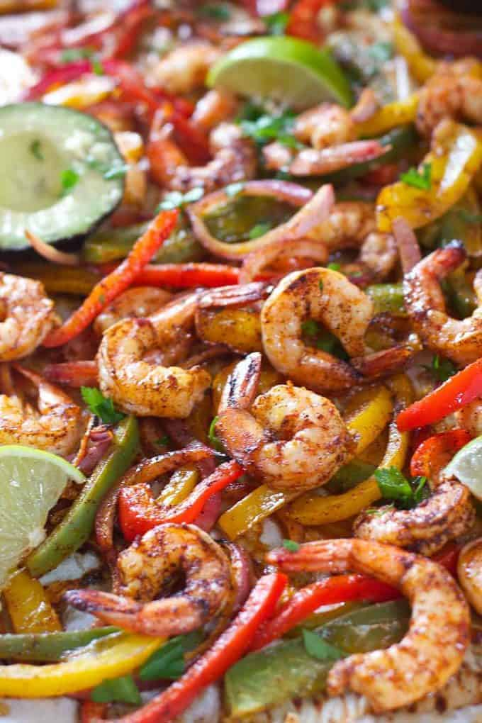 Shrimp Fajitas ready to serve!