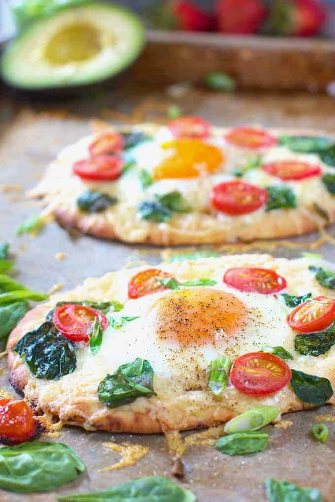 Breakfast Pizza on a sheet pan
