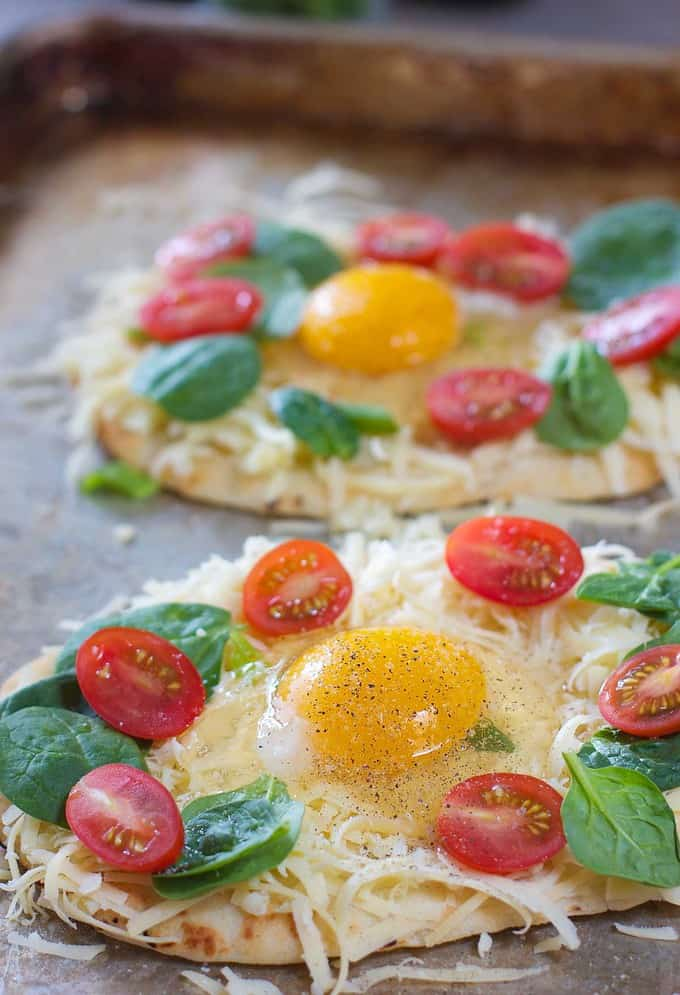 Easy Breakfast Pizza on a sheet pan