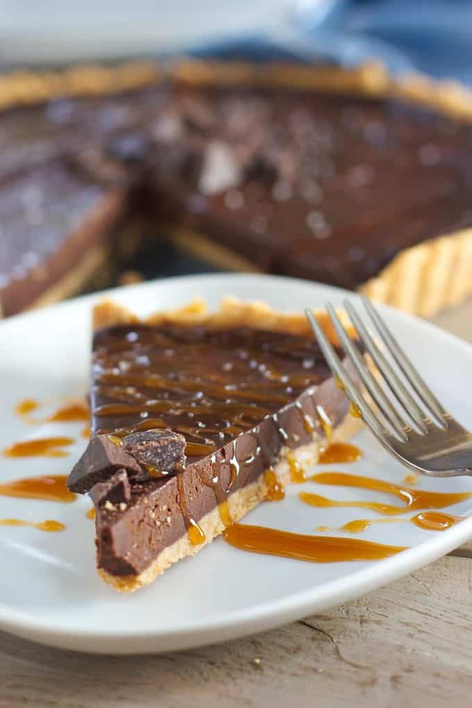 Incredibly Easy Dark Chocolate Tart