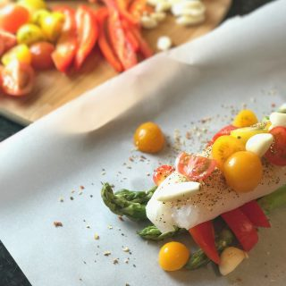 Simple Steamed Fish & Veggie Parchment Pouches