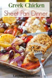 Greek Chicken Sheet Pan