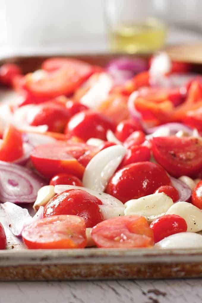 30 Minute Oven Roasted Marinara Sauce