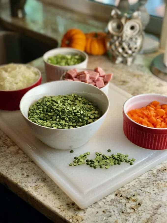 Ingredients for Split Pea Soup