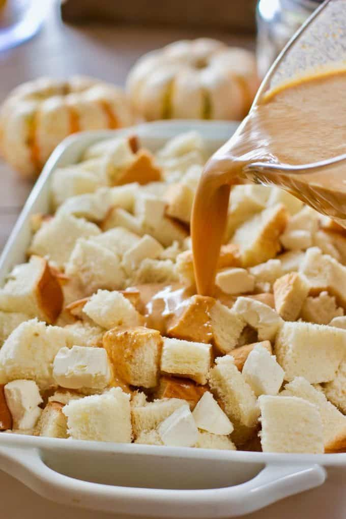 Cream over french toast casserole