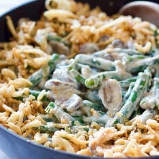 Homemade Skillet Green Bean Casserole