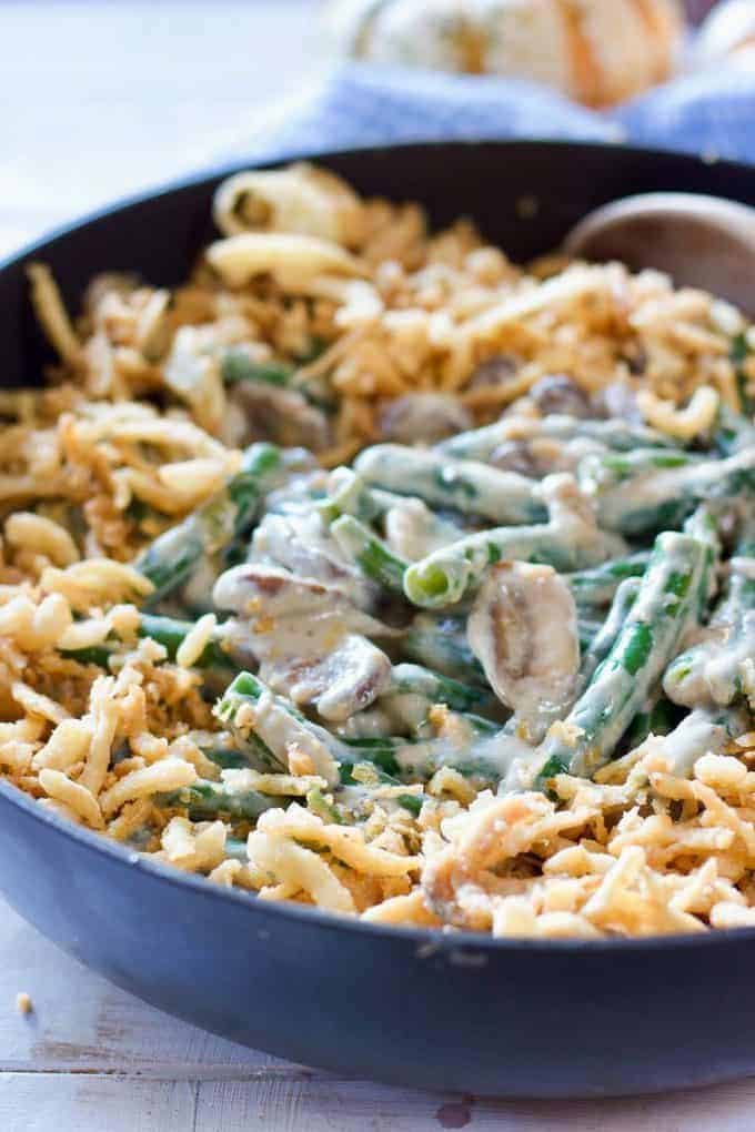 Homemade Green Beans in a skillet