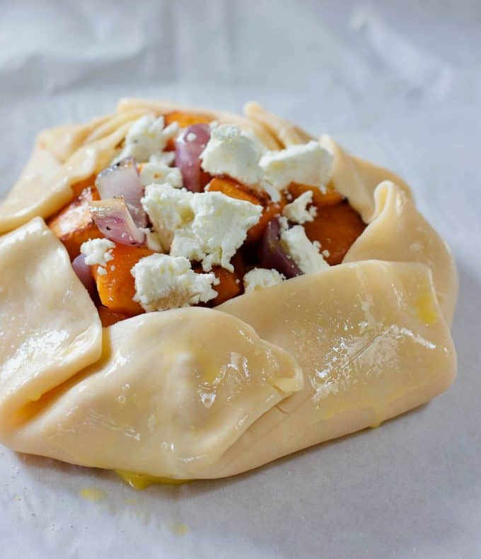 Butternut Squash and Goat Cheese Galette | Laughing Spatula