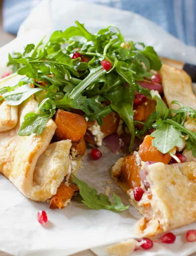Butternut and Goat Cheese Galette
