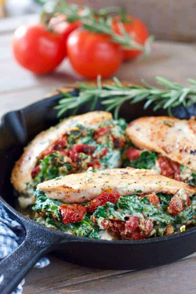 Chicken Breasts Stuffed With Ricotta Spinach And Sun Dried Tomatoes Laughing Spatula