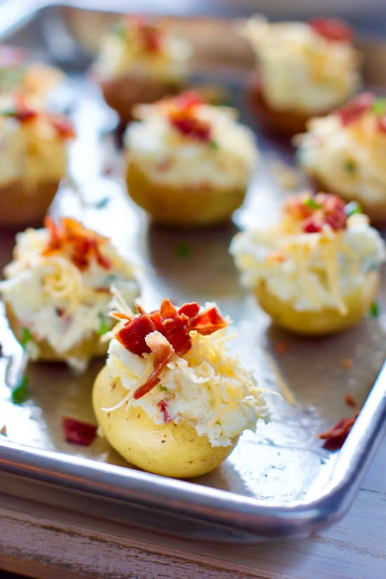 Stuffed mini potatoes