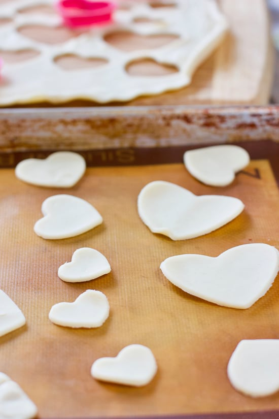 Pie Dough Hearts made from store bought dough