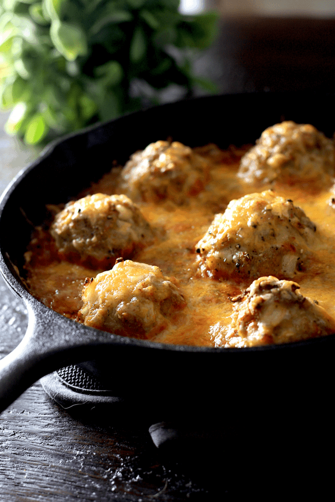Easy Cheesy Turkey Meatball Skillet