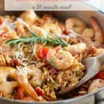Shrimp and Orzo Skillet