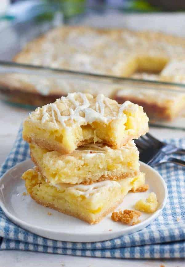 These Easy Pineapple Bars are made with just a few ingredients but pack a huge pineapple flavor!