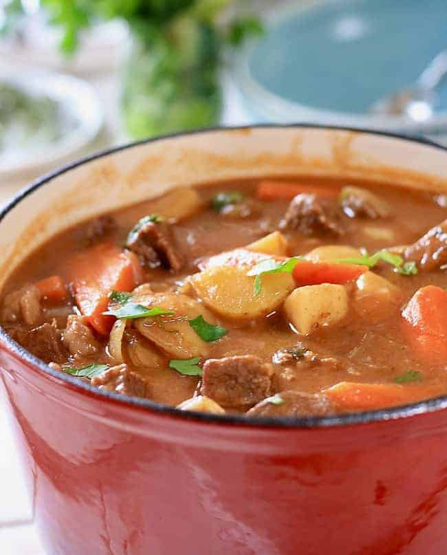 Beautiful wholesome stew ready to serve!