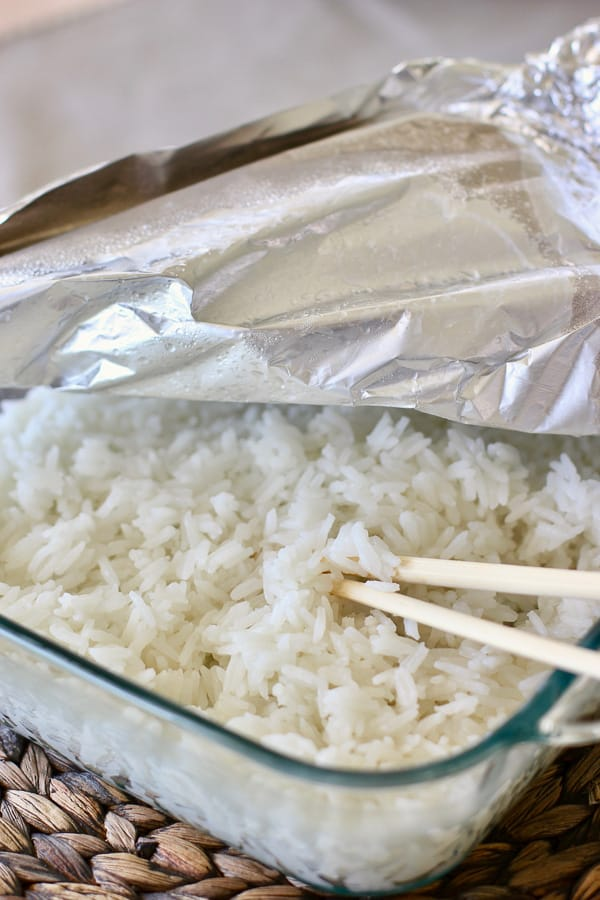 how to oven bake rice