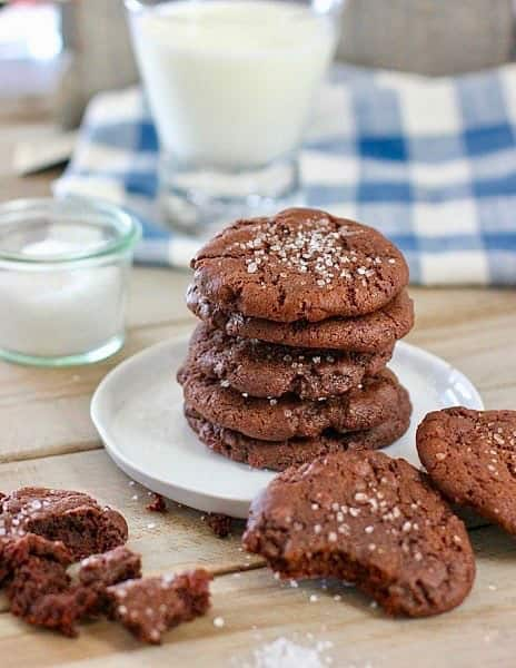 Double Chocolate Chip Cookies With Sea Salt Laughing Spatula