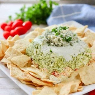 Blue Cheese Layer Dip With Pesto and Sun-Dried Tomatoes