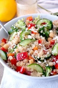 couscous salad picture in a white bowl