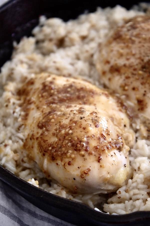 Baked Honey Mustard Chicken And Rice Laughing Spatula