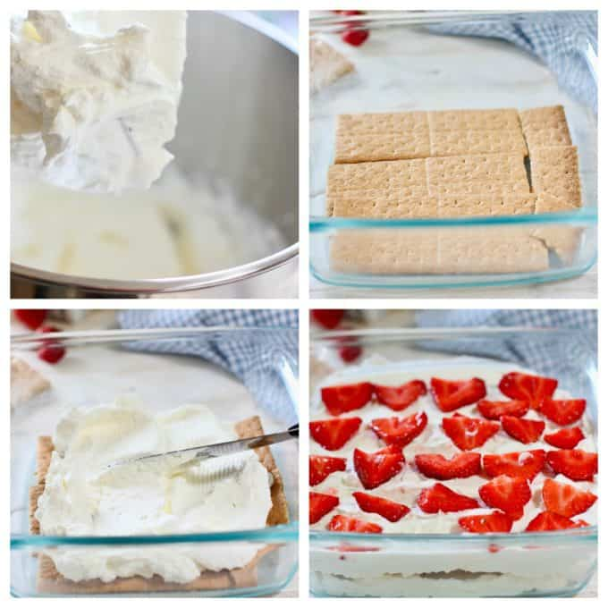 How to make strawberry shortcake icebox cake