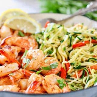 Zucchini Noodles with Shrimp
