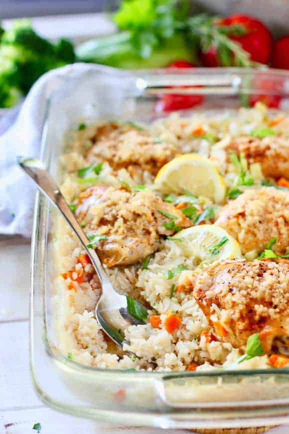 Baked Chicken Recipes Oven Bone In With Veggies