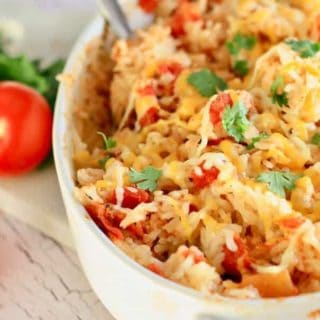 The BEST and EASIEST Baked Mexican Rice