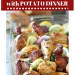 Chicken sausage and potato dinner