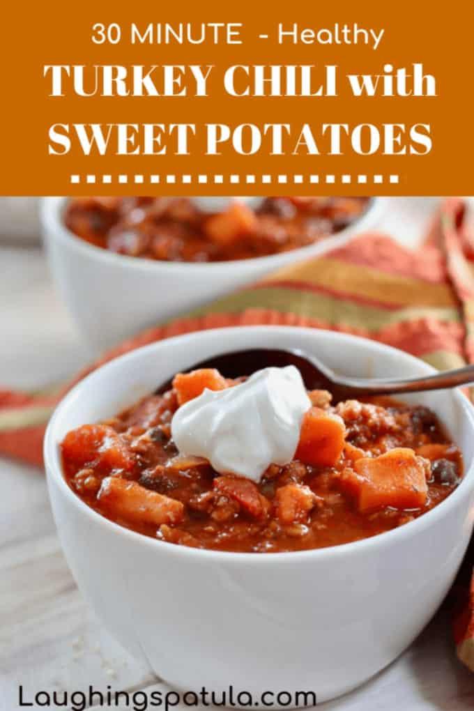 Turkey Chili with Sweet Potatoes