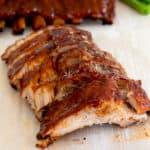 ribs cut on a cutting board
