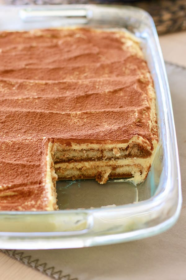 finished tiramisu ready to serve