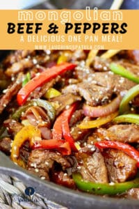 Mongolian Beef and Peppers