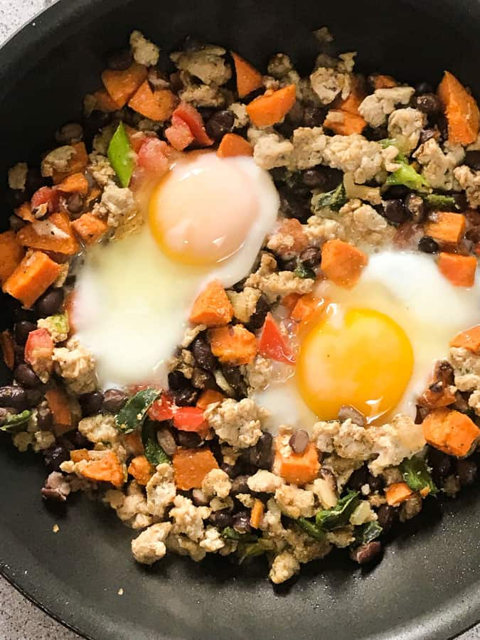 turkey sweet potato and egg