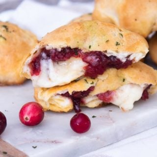 Cranberry and Brie Stuffed Biscuits