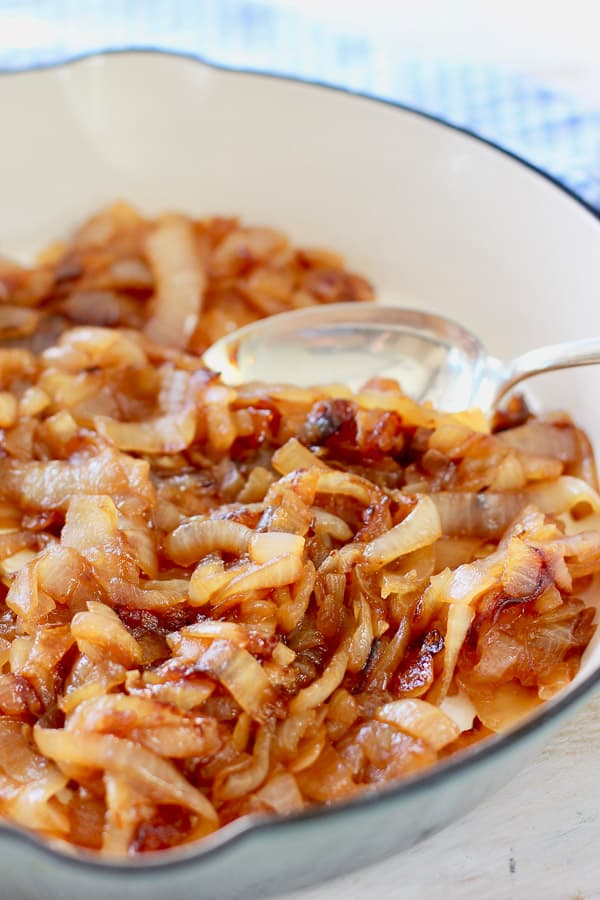 caramelized onion in skillet